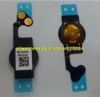 20pcs/lot  for iphone 5 original return key 5 rows of generation function key maintenance Home flex cable