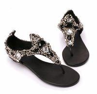 sapatos Sandalias Fashion rhinestone lambdoid women's flip-flop beaded diamond sandals Femininas Rasteirinha Rasteira Chatitas