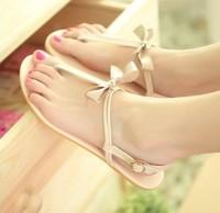 sapatos Sandalias femininos shoes sweet gentle women flip bow flats flip-flop sandals Femininas Rasteirinha Rasteira Chatitas