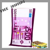 [BATH TOWEL ] 70*140 cm 310 g 500 Euro Beach Towel Novelty Households Microfiber Fabric Fine Printing Children's Bath Towel