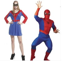 Vestido Pelicula halloween cosplay costume spider man and spider women lovers full sets costume D-1052