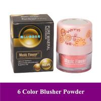 New Mineral Face Powder Makeup Blusher 3D Mushroorn Cheek Blush Cosmetic, 6 Colors,Free shipping