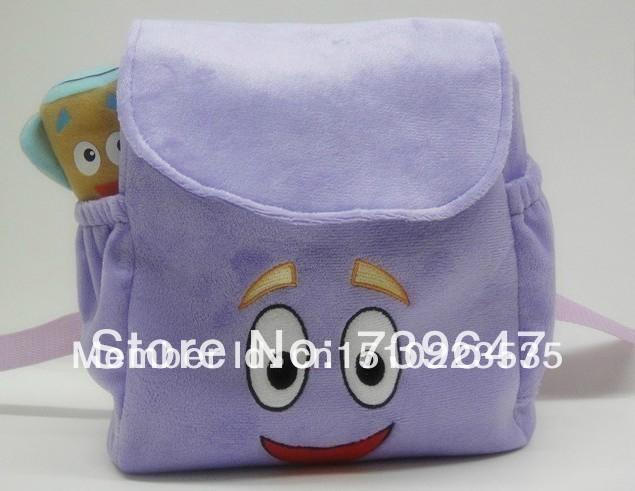 Dora mochila Plush com mapa meninas pré-escolar , a aventureira resgate saco(China (Mainland))