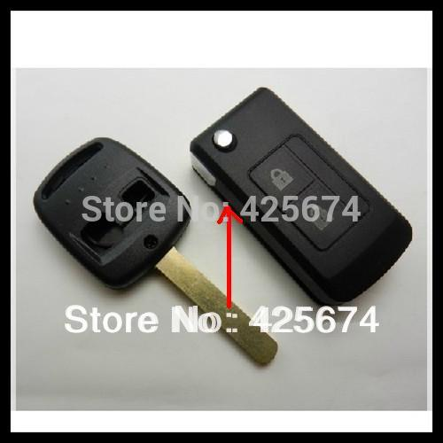 Free shipping for blank modified flip folding remote key case for Subaru Forester shell with the best price S038(China (Mainland))