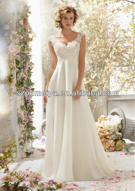 Long flowy wedding dresses