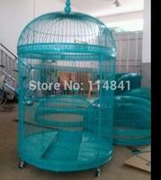 Metal iron birdcage large oversized large white bird cage decoration