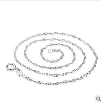 Min.order is $ 19 (mix order) Free shipping Sterling silver wave chain