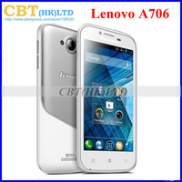 unlocked Original Lenovo a706 Qualcomm MSM8225Q Quad Core Woman sport Android phone GPS Long standby 1GB RAM Russian menu