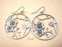 J-WELL Designer Jewelry Vintage Lotus Flowers in Hoop Dangle Fashion Statement 2013 Lucky Women Brand New Hook Earrings