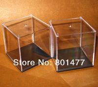 4X Clear Acrylic Display Case Toy Display Multi-use Dustproof Transparent Box 7x7x7cm HDC3