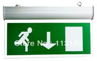 AC220V Fire LED Exit Sign Board CE&RoHS High Quality 3 Years Warranty 3W LED Emergency Light DHL Free Shipping