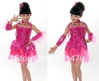 Christmas party dresses girls latin dance dress performance one piece dress free shipping
