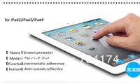 2013 High Clear Tablet  Screen Protector for Ipad2 Ipad3 Ipad4 Ipad5 Anti-scratch 3H 3 Layers Transparent Anti-reflective retail