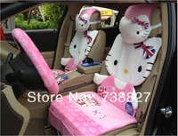 Fedex price12pcs car seat cover set Cartoon Hello Kitty Pink Car Covers set , Seat Cushion