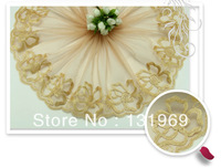 """new arrival 7.8"""" *5 yards delicate cream embroidered flower lace decoration clothing Garment accessories tulle trim for DIY T-17"""