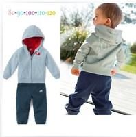 Wholesale 2014 new arrive children boys brand track suit children sport clothing 2 pcs set top+pants free shipping