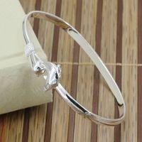 B178 Hot Sell! Wholesale 925 silver bangle bracelet, 925 silver fashion jewelry, Triple Circle heart bangle