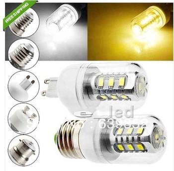 10XE14 E27 G9 Gu10 B22 7W 15 SMD 5630 LED Light Corn Bulb Lamp Bulb Cover 110V 220V