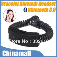 Sports Vibration Alert Bracelet Wristband Style Bluetooth 3.0 Earphone Headset For iPhone Drop Shipping Free Shipping
