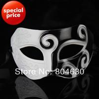 antique Roman prince mask double color man mask venetian masquerade party decoration carnival prop Halloween costume