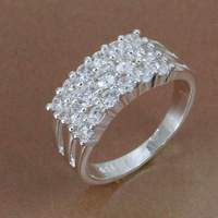 R143 Wholesale! Free shipping! high quality 925 Sterling silver fashion jewelry, multi-stone Ring R143