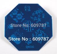 10pcs/lot octagonal Nail Art Stamping Plate Nail Image Plate