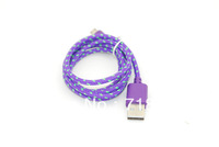 New 2013 supernova sale 5 pin 10colors items weave mini usb Data carregador aux Fabric Nylon Braided cables for samsung v8