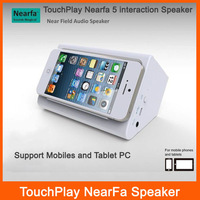 DHL shipping 10pcs TouchPlay 5 NearFA Interaction Speaker for ipad/iphone/cellphones/Tablet PC support Video and Music