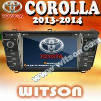 WITSON 3G  7 inch digital panel DVD  car radio recorder GPS  for TOYOTA COROLLA 2013 2014 + Free Shipping + Free Map+Russia Menu