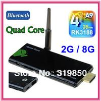 { External antenna } CX919 Quad Core RK3188 Android 4.2.2 TV Stick 2GB RAM 8GB built in Bluetooth mini pc CX-919 google tv box