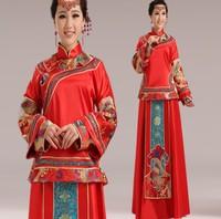 New 2014 High Quality Brocade Red Chinese Wedding Traditional handmade Cheongsam Style Qipao 7 Size