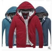 Fashion New Winter Coat Fleece & Men's Cotton Padded Jacket Men's Plush Thick Warm Hoodies Overcoat M-XXXL  Free shipping