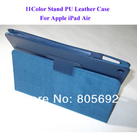 2013 New Good Quality Folding Stand PU Leather Case For iPad Air Case  -20PCS/Lot