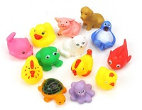 Mixed styles Bath toy Rubber animal bath sets Bath Toys for children water games 13pcs/lot