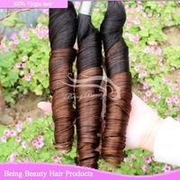 Hot Sale Tangle Free virgin peruvian spring curl AAAAAA unprocessed peruvian hair virgin hair 3pcs lot UPS/DHL free shipping