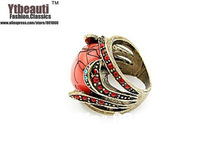 Hot sale in Europe and America fashion red chic modelling beautiful character charm of style restoring ancient ways ring
