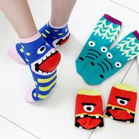 Wholesale Han edition cute wacky expressions tongue pure cotton  long warm socks women Socks & Hosiery 1 lot / 5 pairs / 10 pcs