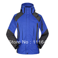New Brand 2014 Outdoors Casual Hoodies Men Skiing Ski Jacket 3 in 1 Waterproof Man Climbing Camping Hiking Sports Coat