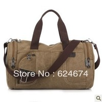 HOT!!! 2013 New Men's Duffle Bag High Quality Sports Gym Bag Fashion Canvas Diagonal Package Free Shipping