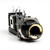 "50pcs,1/4"" 6.35mm STEREO PCB PANEL MOUNT HEADPHONE JACK 4 pin Gold Socket ,2518"