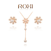 ROXI fashion new arrival, genuine Austrian crystal,Delicate Gold plated Jewelry Set, Chrismas /Birthday gift,20700271080