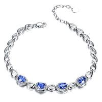 ZOCAI brand ZODIAC Blue mood 18K white gold 2.0 ct sapphire 0.15 ct diamond bracelet fine jewelry 18K rose gold avaible S00514
