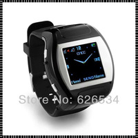 2013 Hot Sale Fashion Free shipping  Bluetooth  FM Handwriting Camera Touch Screen Plastic Shell MP3 MP4 Smart watch phone Black