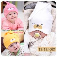 2014 free shipping Retail 1 pcs Top Quality!baby girl/boy Smiley sleeping cap newborn cap baby hat child cotton cloth hat