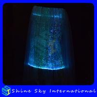 Optical Fiber Luminous Fashion Long Dress Women Sexy Club Led Dress Women Clothing DHL/Fedex Free Shipping