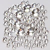 Top quality Super Shiny 1440PCS SS8 2.4mm Crystal Clear Non Hotfix Glue Fixed Flatback Rhinestones 3D Nail Art Decoration Gems