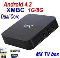 Mini PC AMLogic 8726 MX tv box Dual core Android 4.2 Smart TV box WiFi RJ45 Ethernet HDMI Support XBMC Pre-installed