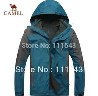 2014 autumn winter New Camel brand.Waterproof, breathable Outdoor, mountain hiking, man skiing jacket & coat +fleece jacket