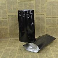 20*30+5cm Black aluminum foil zip lock bag Foil stand up pouches Black zipper bag