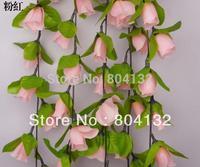 "NEW 20Pcs 2m/78.74"" Length Artificial Silk Rose Flower Rattan Simulation Flowers Bud Wreaths Vine Home Decoration"